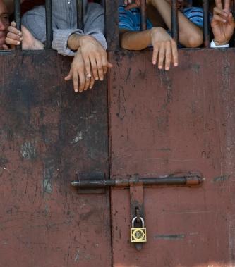 Evangelicos en la  Penitenciaría de Santiago.