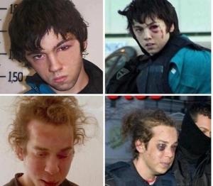 A la izquierda las fotos trucadas