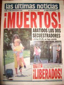 Los periódicos celebrando la muerte de Alex y Fabian