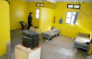 Modulo de prisioneros politicos mapuche en el Manzano I