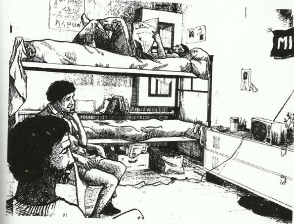 Dibujo de una celda del C.A.S durante los 90
