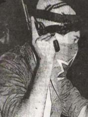 """Foto de """"El Papi"""" en una acción de propaganda armada."""