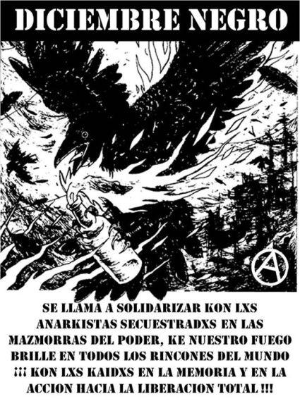 Afiche por un diciembre negro